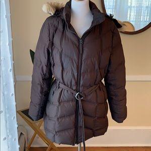 L.L. Bean Goose Down coat Women's Large EUC